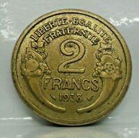 Coins tournée - 2 francs morlon 1938 - SUP - monnaie France - N8013