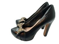 Vince Camuto Ossie 2 Pump Women's Shoes Black Spiked Bow Size 8B Retails $194.99