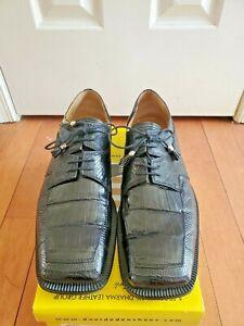 "David Eden Dress Shoes ""Grecce"" Crocodile/Lizard Black Size 11.5"