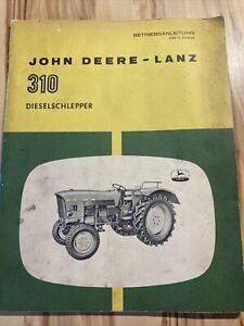 JOHN DEERE Lanz  310 Original Betriebsanleitung  OM-L 23930 Dieselschlepper