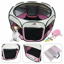 New listing Park For Pets Folding Playpen For Dogs Small Diameter 49 3/16in Pink