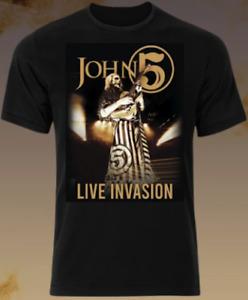 JOHN 5 - Live Invasion Shirt Size Medium NEW Sealed!  Rob Zombie, Marilyn Manson