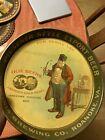 Pre-Prohibition Beer Tray Roanoke VA Virginia Man Smoking Pipe