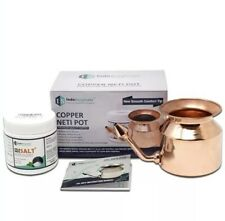 Indo Surgicals Copper Jal Neti Pot With Neti Salt Plus-Free Shipping