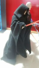 "Star Wars Custom Robe w Hood Emperor Darth  6 "" figure black series NO FIGURE"