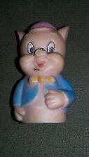 Vintage Warner Brothers Porky Pig Pvc Toy ~Finger Puppet