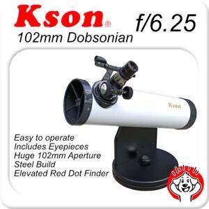 Kson f/6.25 102mm x 640mm Dobsonian Telescope Tabletop Portable Telescope