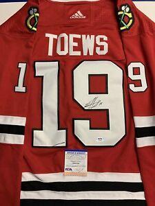 Jonathan Toews Signed Jersey PSA/DNA COA Chicago Blackhawks Adult L Read Descrip
