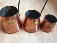 Set di 3 vintage rame ed ottone misura MESTOLI