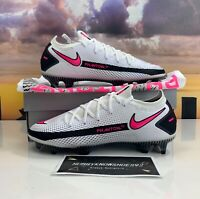 Men Nike Phantom GT Elite FG Soccer Cleats White Pink CK8439-160 Size 7, 10