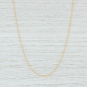 """New Spiga Wheat Chain Necklace 14k Yellow Gold 20"""" 0.9mm Italian Lobster Clasp"""
