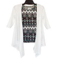 Arizona Jean Co Aztec Tank Cardigan Set Girls Size S (7/8) New