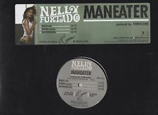 Nelly Furtado Man Eater 2006 Promo Vinyl LP Promo Sticker and 4 Buttons