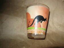 AUSTRALIA SHOT GLASS kangaroo & sunset clear  2 1/4""
