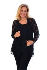 Langarm Damenblusen, - Tops & -Shirts aus Polyester in Größe 52
