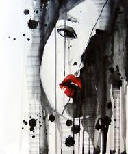 'Angelica tristezza quadro - Stampa d''arte su tela telaio in legno'