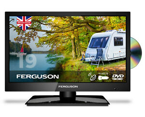 "FERGUSON 19"" INCH 12v LED TV DVD FREEVIEW HD SATELLITE HDMI USB VGA 12VOLT"
