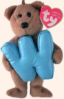 "TY Alphabet Beanies Letter W Bear 6""....NEW"