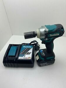"""Makita DTW300 Battery & Charger 18v LXT Cordless Brushless 1/2"""" Impact Wrench"""