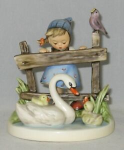 "Hummel Figurine ""FEATHERED FRIENDS"" Hum 344 Trademark 7 / NO Box"