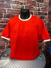 Mens Plain Ringer Baseball T-Shirts Fruit of the Loom Unisex Adults T Shirts Tee