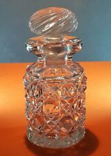 BEAUTIFUL EDWARDIAN SWIRL STOPPER CUT GLASS PERFUME SCENT BOTTLE