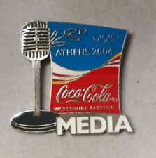 2004 ATHENS COCA COLA MEDIA OLYMPIC PIN