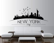 New York Skyline Wall Sticker Room Lounge Wall Decal Art Mural Design