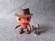 Funko Pop Vinyl Freddy Krueger Action Figure + Jason Voorhees Custom Minifigure