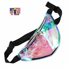 Hologram Rainbow Transparent Bag Punk FANNY PACK Bum Chic Hologram Waist Purse
