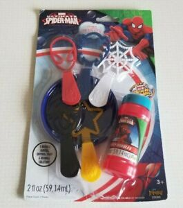 Marvel Ultimate Spider-Man 7 n' 1 Bubble Set - 5 Wands, Dipping Tray & Solution