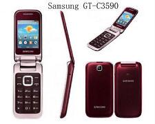 Original Samsung C3590 2MP Teclas Grandes Con Estilo Flip Desbloqueado Teléfono Móvil 2.4 en