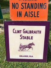 RARE BUFFALO RACEWAY'S BEST CLINT GALBRAITH HORSE RACING STABLE SIGN NIATROSS