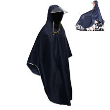 Bike Cycling Raincoat Rain Cape Poncho Hooded WATERPROOF Men Women Scooter Cover