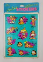 Vintage Garfield Cat Retro Way To Go Sticker Pack 8 Sheets Hallmark 1978 Sealed