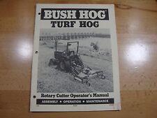 Bush Hog Rotary Cutter Operators Manual Turf Hog