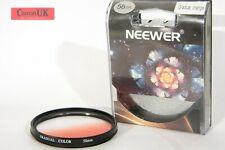 58mm Neewer Gradual Orange Filter for DSLR Lens + Case  *Free P&P*