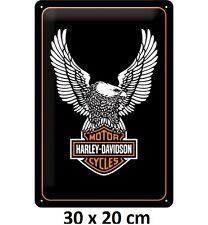 Harley Davidson Eagle 30 x 20 cm Licensed Embossed Tin Sign Not Chinese Fake.