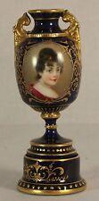 Antique Royal Vienna Small Portrait Vase c1900