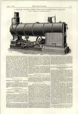 1890 Motor de 20 HP Semi portátil compuesto renovación puentes de Hierro Austria