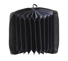Saddler Quality Leather Concertina 3 Way Zippered Credit Card Holder Gift Boxed