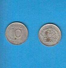 § Suède Sweden  Silver Coin 10 öre en Argent 1954