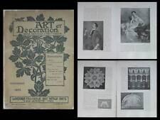 ART ET DECORATION 11 1905 BOLDINI, BATIK, ARTS DECORATIFS PRAGUE