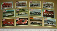 vtg old Strombecker racing card set 1965 Carroll ShelbyCobra Plymouth Barracuda