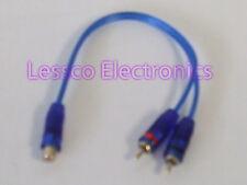 1 Female 2 Male Y Splitter RCA Composite Audio Cable