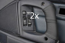 black stitching FITS TOYOTA SUPRA MK3 1986-1993 2X DOOR HANDLE LEATHER COVERS