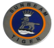 Sunbeam Tiger logo lapel pin - round