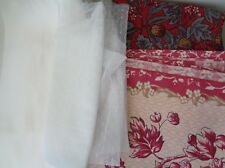 A Job lot 4 pieces sewing tulle fabric cotton fabric satin fabric with defect