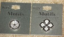 Interchangeable Snap Jewelry~Set of 2~Silver colored and black~New ~ KIS Motifs
