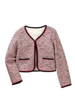 NWT Kate Spade new york knit tweed Jacket Pink Black Blazer size 8 MSRP $128